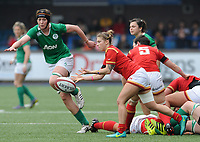 Wales' Keira Bevan in action during todays match<br /> <br /> Photographer Ian Cook/CameraSport<br /> <br /> Women's Six Nations Round 4 - Wales Women v Ireland Women - Saturday 11th March 2017 - Cardiff Arms Park - Cardiff<br /> <br /> World Copyright &copy; 2017 CameraSport. All rights reserved. 43 Linden Ave. Countesthorpe. Leicester. England. LE8 5PG - Tel: +44 (0) 116 277 4147 - admin@camerasport.com - www.camerasport.com