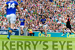 Killian Young Kerry in action against Donal Vaughan Mayo in the All Ireland Semi Final Replay in Croke Park on Saturday.