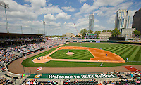 BB&amp;T BallPark - located in Uptown Charlotte, NC is the home of the International League AAA Charlotte Knights baseball team. The  10,000 seat natural grass field is located against the beautiful Center City Charlotte skyline. The stadium overs a panoramic view of the Charlotte, North Carolina skyline.<br /> <br /> Charlotte Photographer - PatrickSchneiderPhoto.com