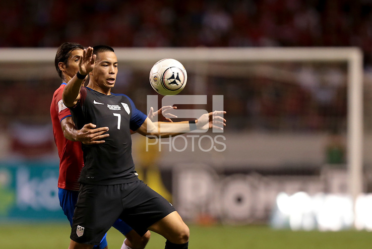 San Jose, Costa Rica - November 15, 2016: The U.S. Men's National team lose to Costa Rica 0-4 during Hexagonal round action in a World Cup Qualifying match at Estadio Nacional de Costa Rica.