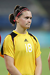 15 August 2008: Erin McLeod (CAN).  The women's Olympic team of the United States defeated the women's Olympic soccer team of Canada 2-1 after extra time at Shanghai Stadium in Shanghai, China in a Quarterfinal match in the Women's Olympic Football competition.