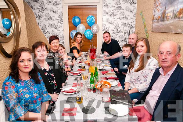 30th Birthday : Sean O'Connor, Liselton, back right, celebrating his 30th birthday with family at Eabha Joan's Restaurant, Listowel on Saturday night last.