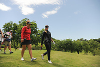 Beth Allen (USA) and Kris Tamulis (USA) depart the 13th tee box during round 1 of  the Volunteers of America Texas Shootout Presented by JTBC, at the Las Colinas Country Club in Irving, Texas, USA. 4/27/2017.<br /> Picture: Golffile | Ken Murray<br /> <br /> <br /> All photo usage must carry mandatory copyright credit (&copy; Golffile | Ken Murray)