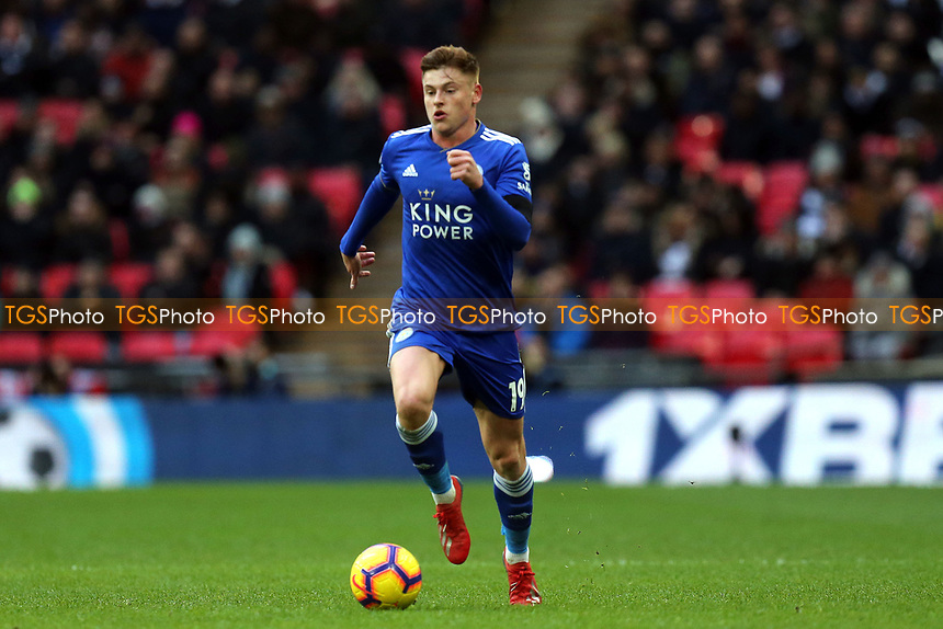 Harvey Barnes of Leicester City during Tottenham Hotspur vs Leicester City, Premier League Football at Wembley Stadium on 10th February 2019