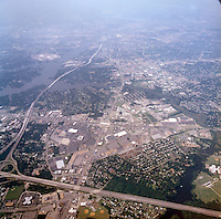 1998 September 05..Aerial..High altitude of census tracts around Elizabeth River in Portsmouth & Norfolk..Gene Woolridge.NEG# 11678 - 46.NRHA#..