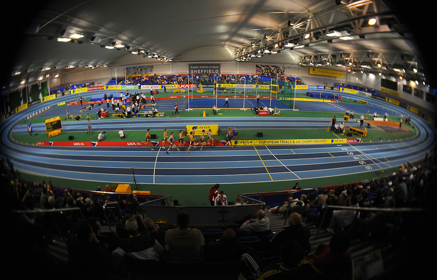 Photo: Tony Oudot/Richard Lane Photography..Aviva European Trials & UK Championships athletics. 14/02/2009. .The indoor arena at the English Institute Of Sport in Sheffield
