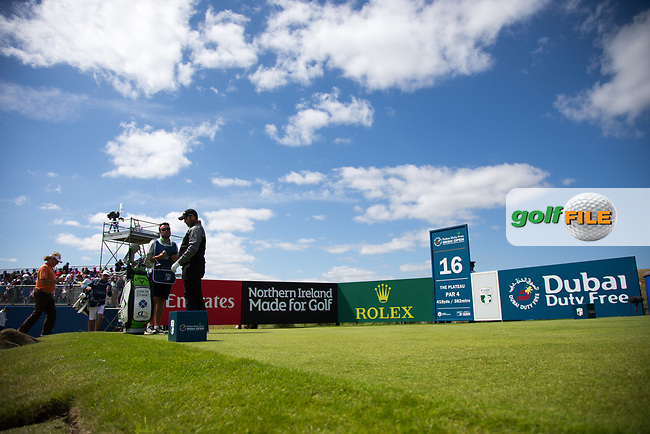 Duncan Stewart (SCO) on the 16th during the 3rd round at the Dubai Duty Free Irish Open hosted by the Rory Foundation, at Portstewart Golf Club, Portstewart, Co. Derry, Northern Ireland. 08/07/2017<br /> Picture: Golffile | Fran Caffrey<br /> <br /> <br /> All photo usage must carry mandatory copyright credit (&copy; Golffile | Fran Caffrey)