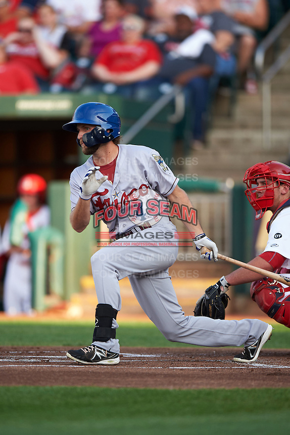 Frisco RoughRiders shortstop Beamer Weems (4) at bat during a game against the Springfield Cardinals  on June 4, 2015 at Hammons Field in Springfield, Missouri.  Frisco defeated Springfield 8-7.  (Mike Janes/Four Seam Images)
