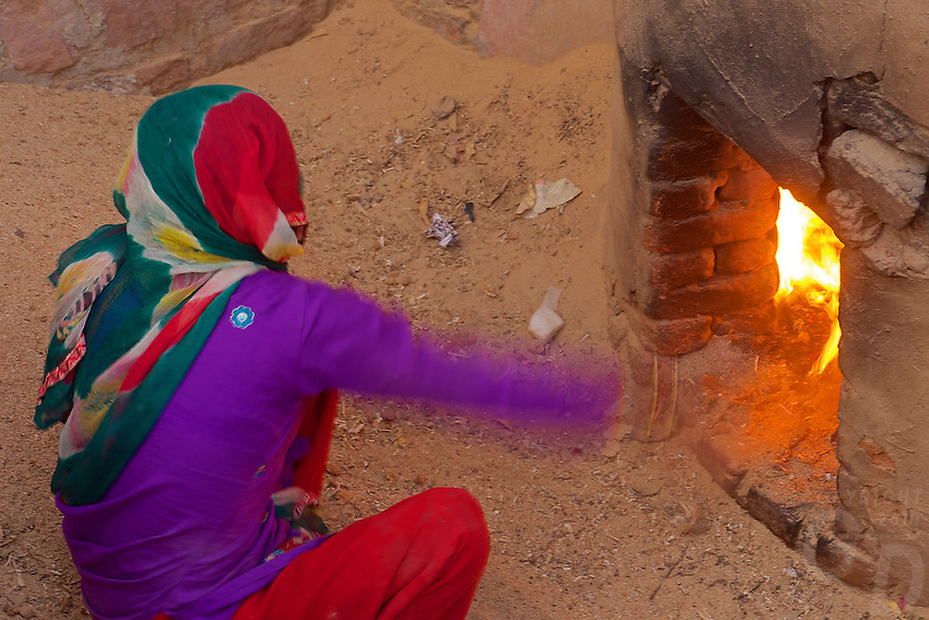 Rural and traditional village Pottery in the Thar Desert, Rajasthan, India.
