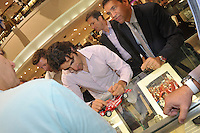 Dario Franchitti, promoting TW Steel line of watches, made an appearance at Radcliffe Jewelers as they held an auction to benefit the Children's Hospital at Sinai.