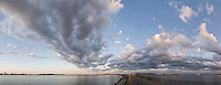Pleasure Bay panorama, clouds, Boston, MA