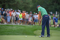 Justin Thomas (USA) watches his putt on 1 during 4th round of the World Golf Championships - Bridgestone Invitational, at the Firestone Country Club, Akron, Ohio. 8/5/2018.<br /> Picture: Golffile | Ken Murray<br /> <br /> <br /> All photo usage must carry mandatory copyright credit (© Golffile | Ken Murray)