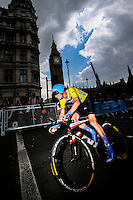 Picture by Alex Whitehead/SWpix.com - 14/09/2014 - Cycling - 2014 Friends Life Tour of Britain - Stage 8a, London Individual Time Trial - Garmin-Sharp's Dylan Van Baarle in action during the Time Trial.