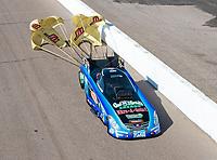 Feb 23, 2019; Chandler, AZ, USA; NHRA funny car driver Jeff Diehl during qualifying for the Arizona Nationals at Wild Horse Pass Motorsports Park. Mandatory Credit: Mark J. Rebilas-USA TODAY Sports