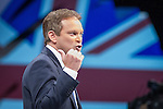 © Joel Goodman - 07973 332324 . No syndication permitted . 29/09/2013 . Manchester , UK . Conservative Party Chairman , GRANT SHAPPS , addresses the conference . Day 1 of the Conservative Party Conference at Manchester Central . Photo credit : Joel Goodman
