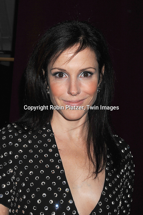 Mary-Louise Parker in Marc Jacobs..arriving at The 7th on Sale Black Tie Gala Dinner on ..November 15, 2007 at The 69th Regiment Armory in New York. The Fashion Industry's Battle Against HIV and AIDS..will benefit. CFDA and Vogue were 2 of the sponsors...Robin Platzer, Twin Images