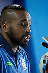 Getafe's new player Alvaro Pereira during his official presentation.February 25, 2016. (ALTERPHOTOS/Acero)