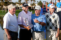 Three generations of the Haas family gather together to celebrate Bill Haas winning The 2010 Bob Hope Classic at PGA West's Palmer Private.