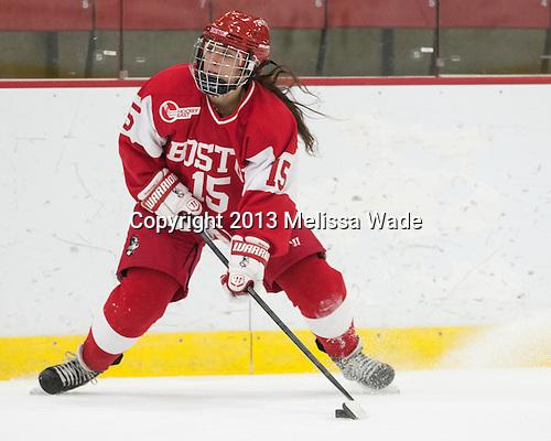 Lillian Ribeirinha-Braga (BU - 15) - The Harvard University Crimson defeated the visiting Boston University Terriers 3-1 on Friday, November 22, 2013, at Bright-Landry Hockey Center in Cambridge, Massachusetts.