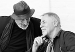 """King Lear"" rehearsed reading rehearsals. Old Vic Theatre. Director: Jonathan Miller. L to R: Vernon Dobtcheff, Barrie Rutter."