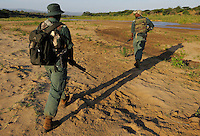The anti paoching patrol, iMfolozi NP, South Africa