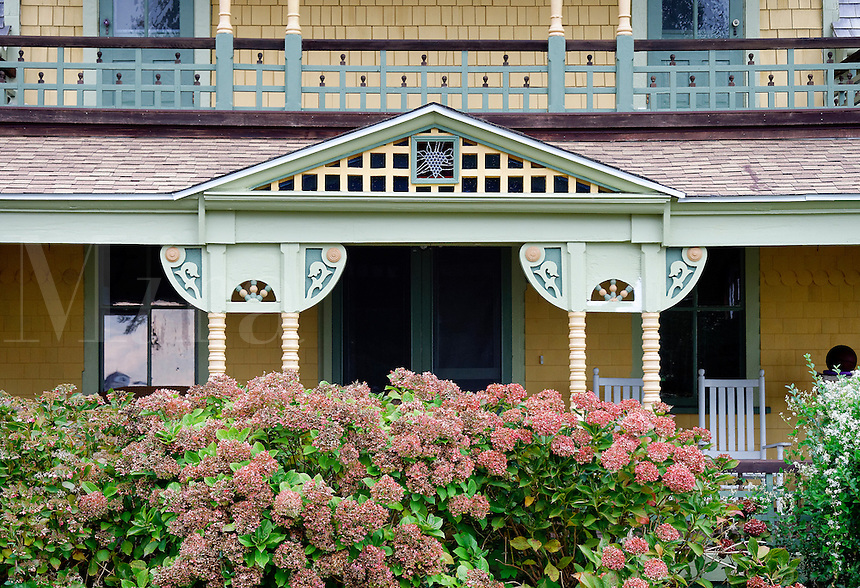 Cottage detail, Oak Bluffs, Martha's Vineyard, Massachusetts, USA