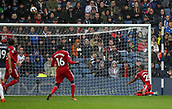 30th September 2017, The Hawthorns, West Bromwich, England; EPL Premier League football, West Bromwich Albion versus Watford; André Carrillo of Watford misses an open goal with his header