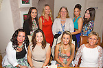 Jenny Murphy from Castlemaine enjoying her leaving party from Stepping Stones Child Care at Bella Bia's on Friday. Pictured front l-r  Stacey Bowler, Linda Duggan, Jenny Murphy, Mary Maunsell, Back l-r  Anna Burgen, Siobhan Hilliard, Bernadette Stepney, Tracey Moore, Ciara Stepney