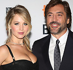 Jennifer Lawrence and Javier Bardem attend the 'Mother!' premiere during the 2017 Toronto International Film Festival at Princess of Wales Theatre on September 10, 2017 in Toronto, Canada.