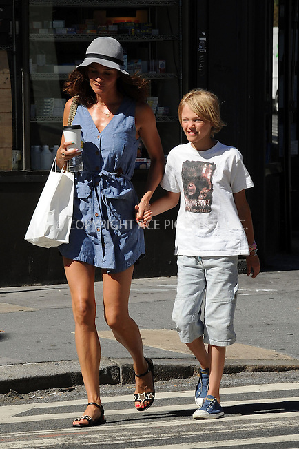 WWW.ACEPIXS.COM . . . . . ....July 3 2010, New York City....Model Helena Christensen and her son Mingus Luchien Reedus walking in the West Village on July 3 2010 in New York City ....Please byline: KRISTIN CALLAHAN - ACEPIXS.COM.. . . . . . ..Ace Pictures, Inc:  ..tel: (212) 243 8787 or (646) 769 0430..e-mail: info@acepixs.com..web: http://www.acepixs.com