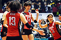 (L to R) Saori Kimura (JPN), Yoshie Takeshita (JPN), November 16,2011 - Volleyball : FIVB Women's World Cup 2011, 4th Round match between Japan 3-0 Kenya at Yoyogi 1st Gymnasium, Tokyo, Japan. (Photo by Daiju Kitamura/AFLO SPORT) [1045]