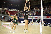 JOHANNESBURG, SOUTH AFRICA - JANUARY 25: Katrina Grant of the Silver Ferns (r) and Maryka Holtzhausen of SPAR Proteas in action during the Netball Quad Series netball match between Spar Proteas and Silver Ferns at the Ellis Park Arena in Johannesburg. Mandatory Photo Credit: ©Reg Caldecott/Michael Bradley Photography