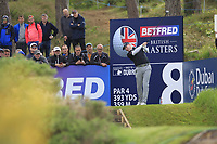 Richard McEvoy (ENG) on the 8th tee during Round 2 of the Betfred British Masters 2019 at Hillside Golf Club, Southport, Lancashire, England. 10/05/19<br /> <br /> Picture: Thos Caffrey / Golffile<br /> <br /> All photos usage must carry mandatory copyright credit (&copy; Golffile | Thos Caffrey)