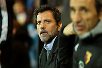 8th November 2019; Carrow Road, Norwich, Norfolk, England, English Premier League Football, Norwich versus Watford; Watford Manager Quique Sanchez Flores - Strictly Editorial Use Only. No use with unauthorized audio, video, data, fixture lists, club/league logos or 'live' services. Online in-match use limited to 120 images, no video emulation. No use in betting, games or single club/league/player publications