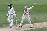 Simon Harmer in bowling action for Essex during Essex CCC vs Yorkshire CCC, Specsavers County Championship Division 1 Cricket at The Cloudfm County Ground on 9th July 2019