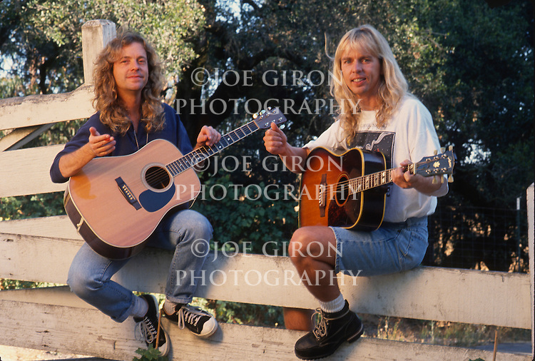 Various portrait sessions and live photographs of the rock band, Damn Yankees