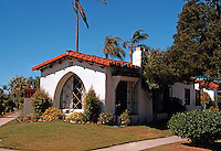 San Diego: Coronado California House. 1920's Romantic Spanish Revival.  (Photo '78)