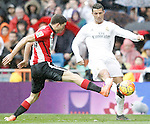 Real Madrid's Cristiano Ronaldo (r) and Athletic de Bilbao's Oscar de Marcos during La Liga match. February 13,2016. (ALTERPHOTOS/Acero)