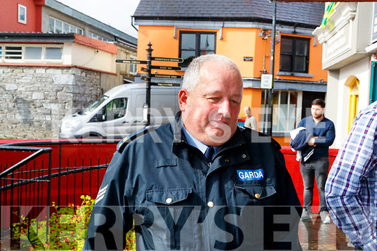 Sergeant Derek Fleming at Kenmare Court on Friday.
