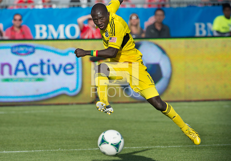 18 May 2013: Columbus Crew foward/midfielder Dominic Oduro #11in action during an MLS game between the Columbus Crew and Toronto FC at BMO Field in Toronto, Ontario Canada..The Columbus Crew won 1-0...