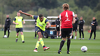 Colin Quaner of Huddersfield Town takes a shot at the Brentford goal during Brentford B vs Huddersfield Town Under-23, Friendly Match Football at Brentford FC Training Ground, Jersey Road on 12th September 2018