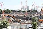 A view of the proposed site of National Stadium for the 2020 Tokyo Olympic and Paralympic Games is seen in Tokyo, Japan, on September 13, 2017. (Photo by Hiroyuki Ozawa/AFLO)