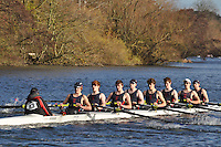 043 .SWB-Cox .J18A.8+ .Sir W Borlase GS BC . Wallingford Head of the River. Sunday 27 November 2011. 4250 metres upstream on the Thames from Moulsford railway bridge to Oxford Universitiy's Fleming Boathouse in Wallingford. Event run by Wallingford Rowing Club..