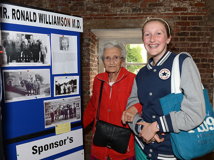 Mary Carolan and her grandaughter Maeve pictured at the Slane Mill reunion for former workers. Photo:Colin Bell/pressphotos.ie