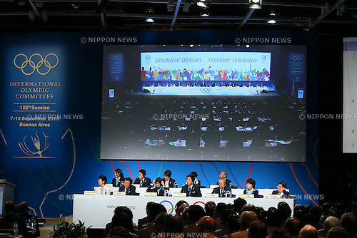 General view, <br /> SEPTEMBER 7, 2013 : <br /> the 2020 Summer Olympic Games bid fianl presentation during the 125th International Olympic Committee (IOC) session in Buenos Aires Argentina, on Saturday September 7, 2013. <br /> (Photo by YUTAKA/AFLO SPORT) [1040]