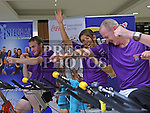 AIB Staff at the Spinathon in aid of St Vincent de Paul<br /> <br /> Photo - Jenny Matthews