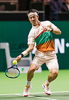 Rotterdam, The Netherlands, 12 Februari 2019, ABNAMRO World Tennis Tournament, Ahoy, first round singles: Kei Nishikori (JPN) in his first match against Pierre-Hugues Herbert (FRA),<br /> Photo: www.tennisimages.com/Henk Koster
