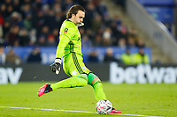 4th March 2020; King Power Stadium, Leicester, Midlands, England; English FA Cup Football, Leicester City versus Birmingham City; Lee Camp of Birmingham City plays the ball upfield