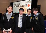 Imed Abnoum, Marsell Fazilov, and David Barrett, Tralee CBS with DEputy Michael Healy Rae TD   at the Young Entrepreneur Programme Business Boot Camp at the Brandon Conference Centre Tralee on Friday. Picture: Eamonn Keogh (MacMonagle, Killarney)