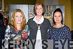Siobhain O'Connell, Deirdre Hayes-McCann and Tracey O'Connor,  at the Killorglin Community College fashion show in the Manor Inn on Friday night